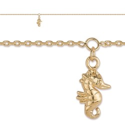 Chaine Cheville, motif PAMPILLE HIPPOCAMPE