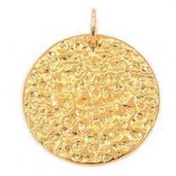 DST-Pendentif plaqué or, pend por froissee