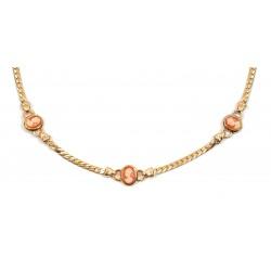 DST-42 cm - les camées d'imitation - collier plaqué or