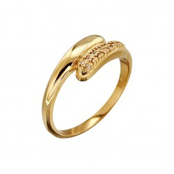 BAGUE POR RUBAN CZ SERTIS GRAINS