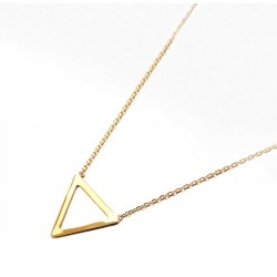 COLLIER 42CM PLAQUE OR 1TRIANGLE