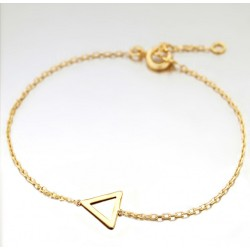 BRACELET 18CM PLAQUE OR 1TRIANGLE