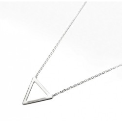COLLIER 42CM ARGENT 925 1TRIANGLE