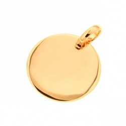 PENDENTIF PLAQUE OR MEDAILLE 15MM