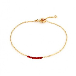 BRAS MAILLE FORCAT 10 BEADS 18 CM ROUGE