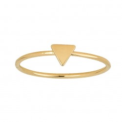 BAGUE PLAQUE OR TRIANGLE