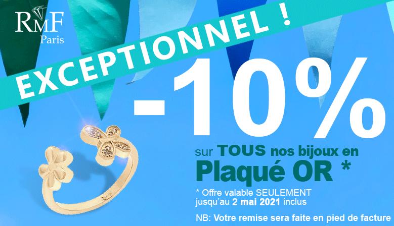 10% de remise sur le plaqué or jusqu'au 2 mai inclus !